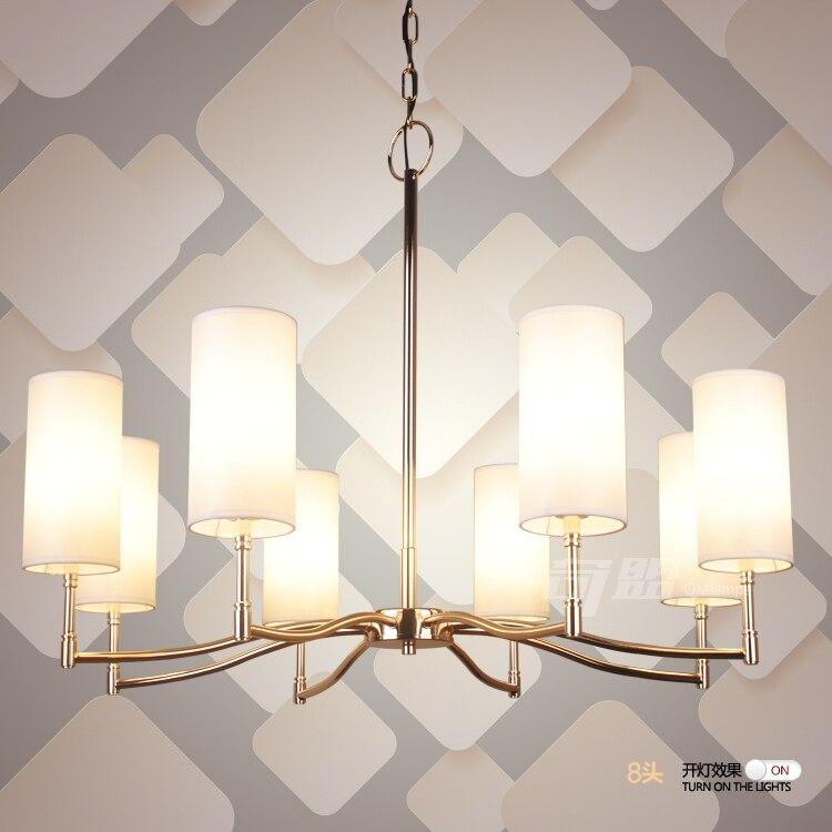 A1 современный минималистский американский подвесные светильники с серебряным покрытием золото прямо крышки ткани гостиная столовая подве