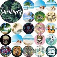 Summer boho style towel beach animals mandala sea beach landscape women beach towel circle  round beach towels  size 1500*1500mm