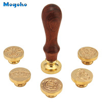 Mogoko 2017 Wholesale 1 Set Brass Head Vintage Retro Removable Wax Seal Sealing Stamp Letter Card