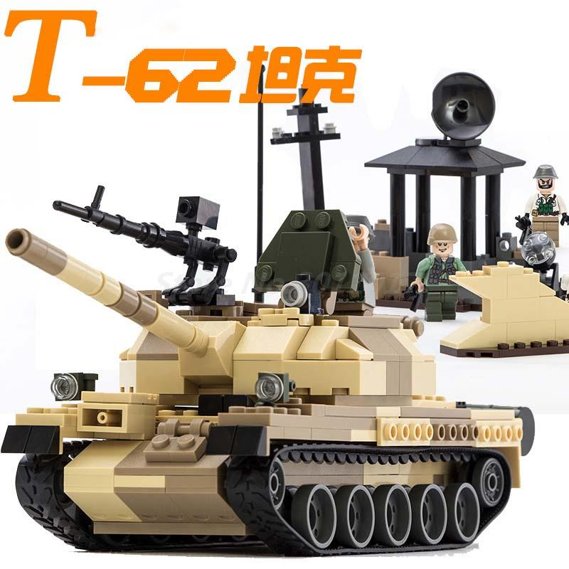 GUDI The T-62 Main Battle Tanks Action Figure Model Building Block Set Brick Collectible 2017 Educational Toy For Chldren Gifts
