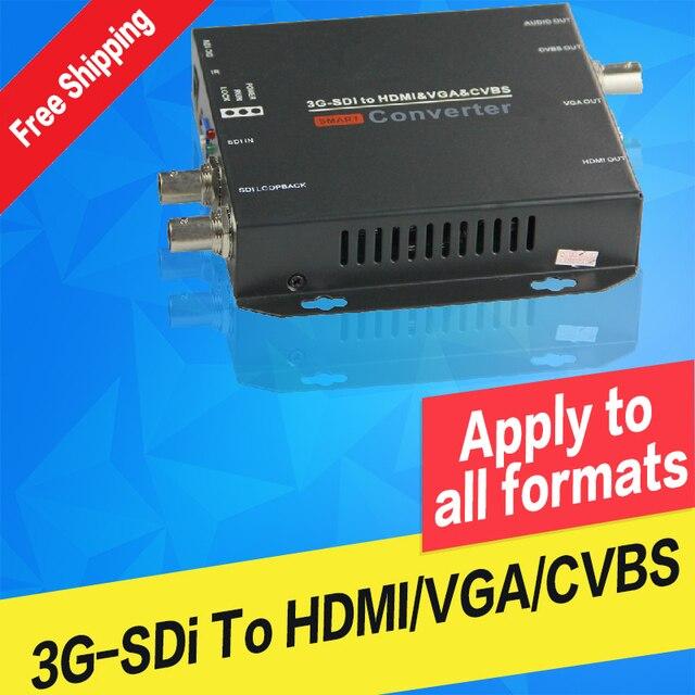 Convertisseur Audio vidéo SDI vers HDMI VGA AV CVBS Composite vers HD 3g convertisseur SDI fabricant 1080P vers 1080i
