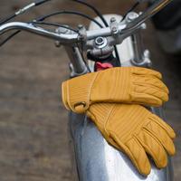 2017 uomini di Modo abbey road moto moto in pelle guanto moto equitazione guanti touch screen di colore giallo nero taglia S-2XL