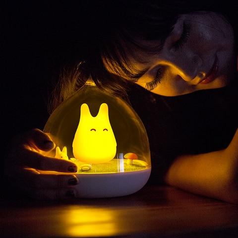 totoro do quarto bebe lampada de mesa noite
