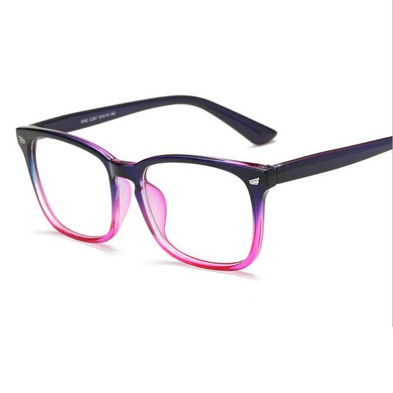 48acbf9973 TR90 gafas marco hombres transparente cuadrado grande prescripción 2018  Metal de la vendimia miopía marco óptico