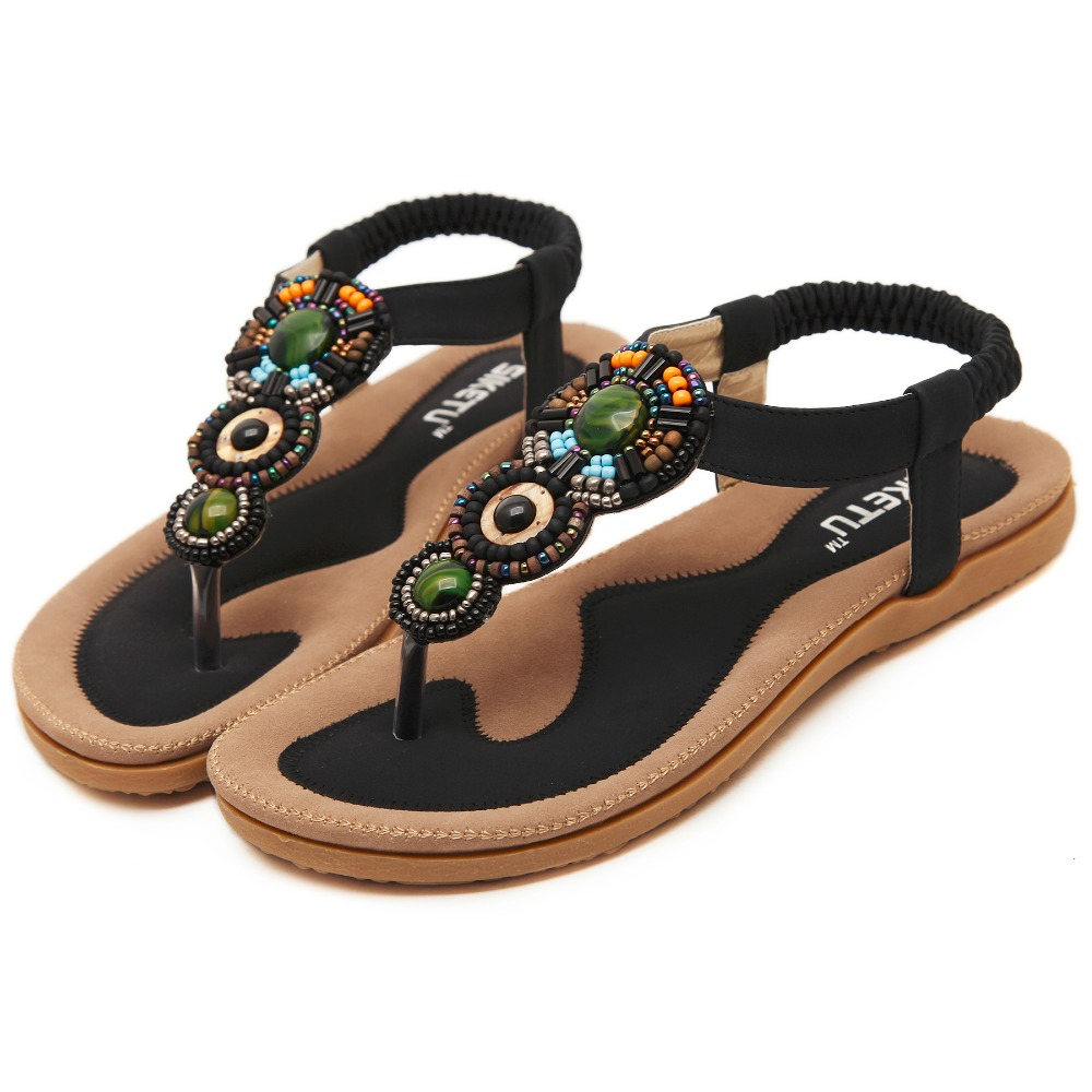GOXPACER 2016 New Hot sell fashion summer shoes Bohemia mix color women shoes sandals flip flop shoes women plus size 35-41 goxpacer arrival fashion sandals rhinestone flats bohemia women summer style shoes women flat flip flops plus size 35 41