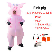 Adult Inflatable Pink Pig Costume Fancy Dress Anime Cosplay Halloween Costumes For Women Man Pig Cute Inflatable Costumes