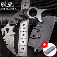HX AIRE LIBRE CS ir karambit Defensa maestro D2 cuchillo Karambit, campo de supervivencia cuchillo recto, cuerpo con un cuchillo al aire libre