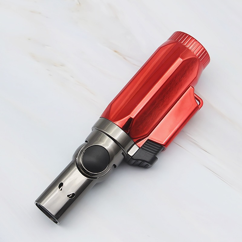 Image 2 - BBQ Lighter Cigar Torch Turbo Lighter Jet Butane Cigarette 1300 C 4 Nozzles Spray Gun Windproof Metal Pipe For Kitchen No Gas-in Matches from Home & Garden