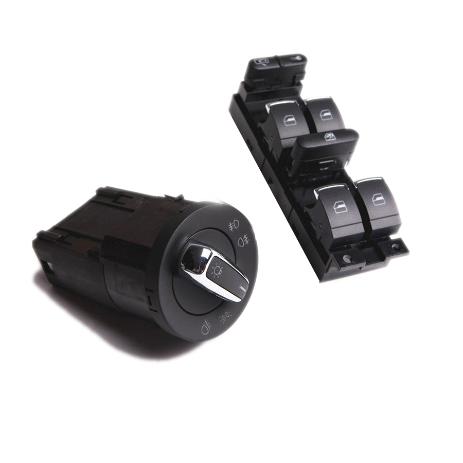Qty2 TUKE OEM Master power window switchs & Headlamp Switch For VW Jetta Golf MK4 Beetle Bora 3BD 941 531 3BD 959 857