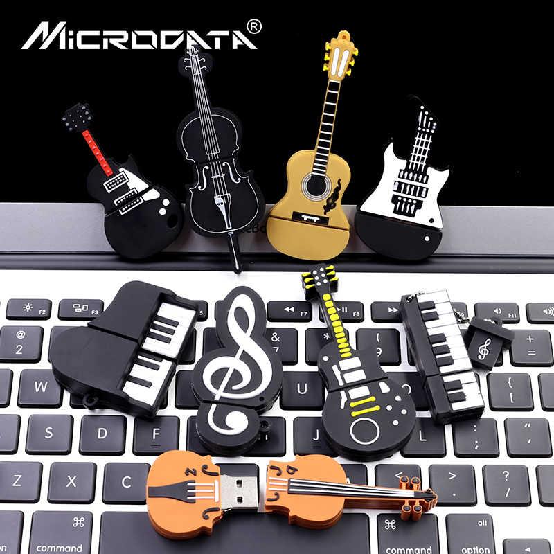 Strumenti Musicali Modello Pen drive USB flash drive microfono/pianoforte/chitarra Pendrive 4g 8g 16g 32g 64G bastone di memoria flash u disk
