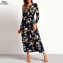 Robe élégante à manches longues