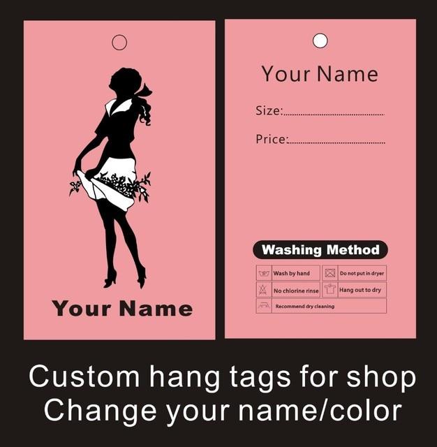 Préféré Vêtement étiquettes volantes impression personnalisée vêtements @SU_41