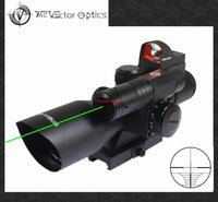 Vector Optics 2 5 10x40 Hunting Green Laser Riflescope With Mini Red Dot Scope Combo Weapon
