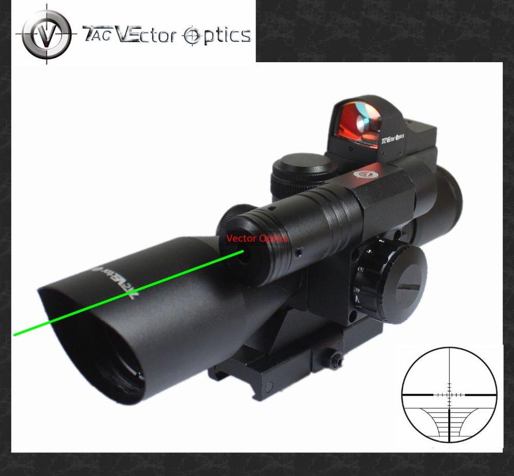 Вектор оптика 2.5-10х40 Охота зеленый лазерный прицел с мини-Красная точка прицел комбо АР прицел подходит AR15 АК47