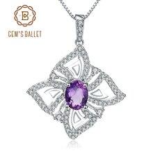 Collier avec pendentif en forme de papillon en améthyste naturelle, collier avec pendentif en argent Sterling 925 pour femmes, bijoux fins, 1,30 ct