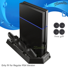 PS4 Console Cooling Fan Cooler Vertical Stand & PS 4 Controller Dual Charging Station Joystick Charger for Sony PlayStation 4