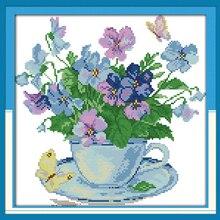 Утренний цветок, Набор для вышивки крестом, цветок 14ct 11ct, печатная ткань, холст, вышивка, сделай сам, ручная работа, рукоделие