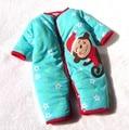 Macacão de bebê de algodão acolchoado inverno quente recém-nascido macaco azul de corpo Bebe macacão roupas recém-nascido
