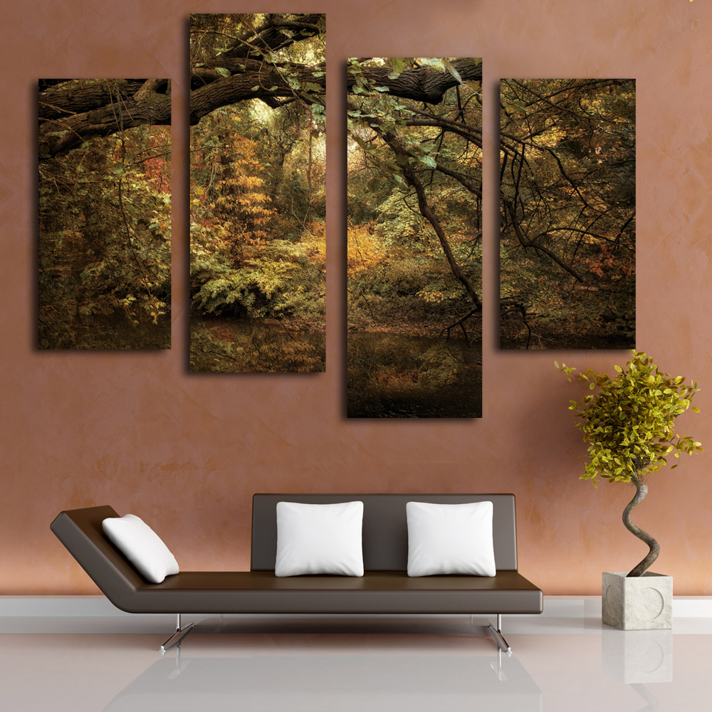 Buy old forest painting landscape canvas for Where to buy canvas art