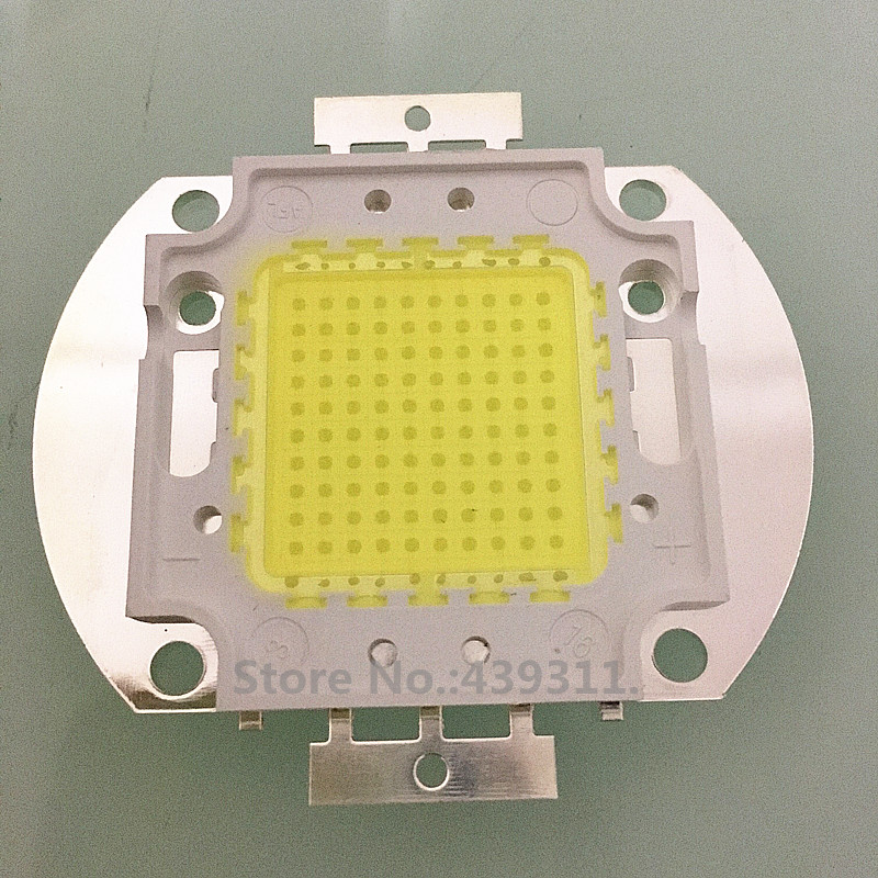 2PCS 100W LED Integrated High Power Lamp Beads WHITE 32-36V 8000-9000LM