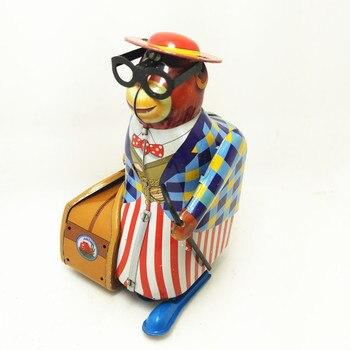 Adultos colección Retro viento juguete de mono en un viaje de negocios relojería mecánica juguete modelo de regalo de Navidad de los niños
