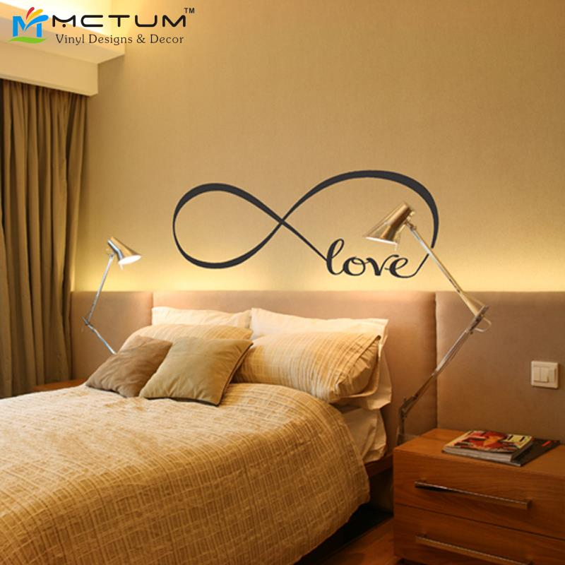 Bon Creatively Infinity Love Symbol Quotes Vinyl Wall Art Decals Stickers  Removable Wallpaper For Bedroom Decoration House Decor In Wall Stickers  From Home ...