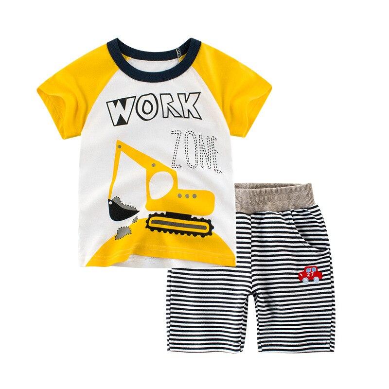 Nouveau Kids'Suit 2019 haute qualité tout coton à manches courtes T-shirt jupe courte costume pour les bébés d'été