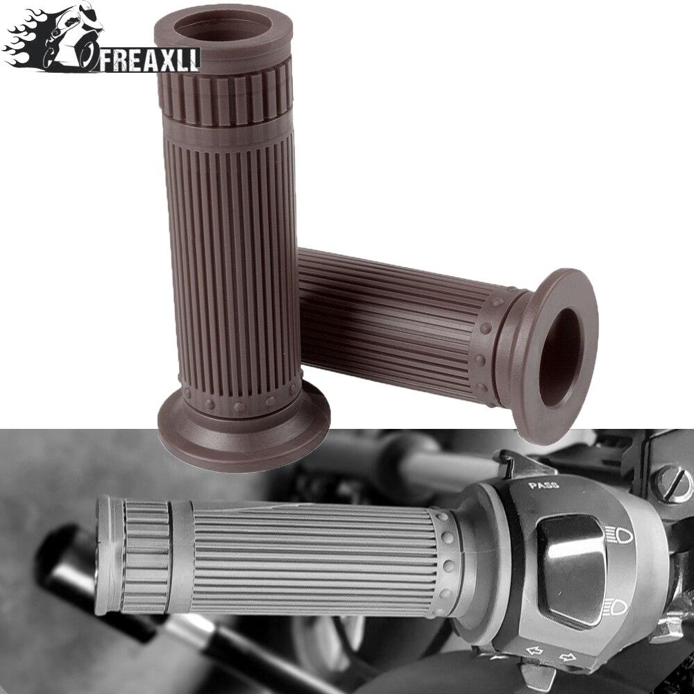25/28MM&22/24MM Universal Motorcycle Rubber Handlebar Grips Handle Bar For Kawasaki KDX 50 125SR 250SR 200 220 VERSYS X250 300