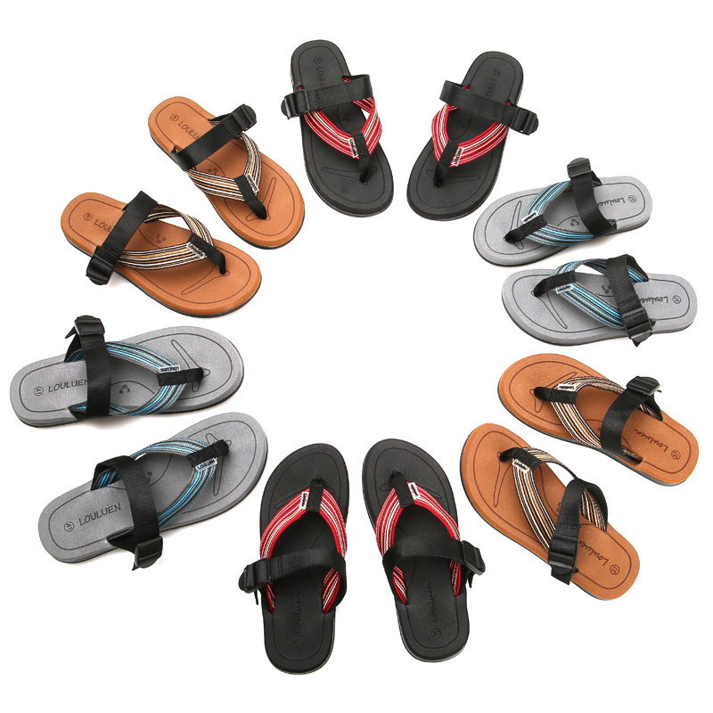 Fashion Big Size 36 45 Men 39 s Summer Shoes Men Slippers Slip On Beach Flip Flops Couple Footwear Soft Man Sandals in Flip Flops from Shoes