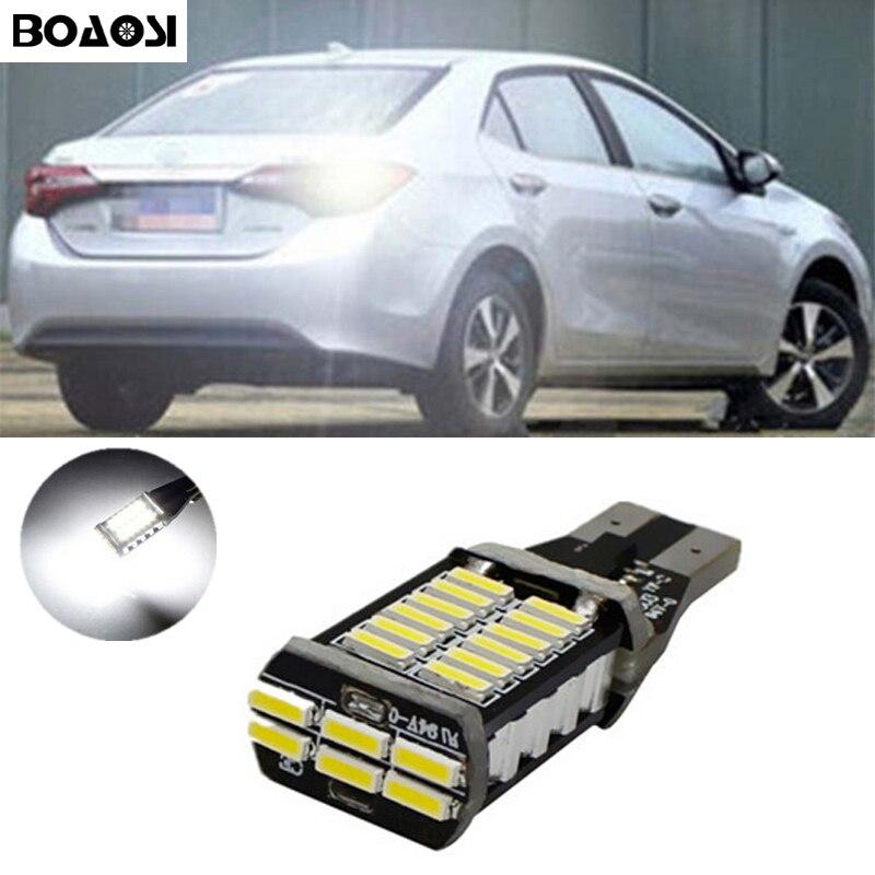 BOAOSI 1x Reverse Light 921 912 T15 W16W For Toyota Camry Tundra Corolla rav4 crown new reiz avensis 06-13 HighLander 2015 toyota crown модели 2wd