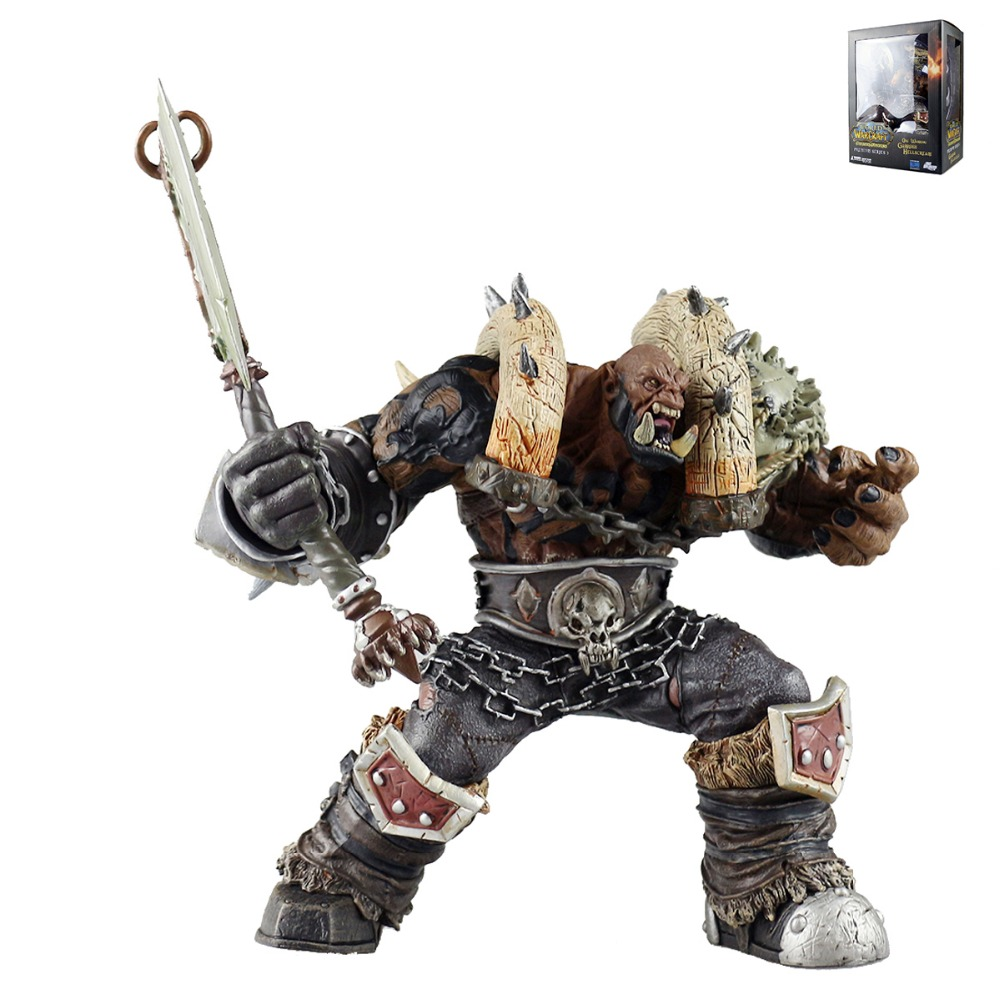 Orc Warrior Garrosh Hellscream Premium Series 3 Action Figure 7 Painted Figure PVC Model Toy DCWOW032 Free Shipping wow world of war rehgar orc dwarf warrior thargas anvilmar figure lot x2