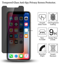 privacy screen protector For iPhone X XS MAX Tempered Glass Anti Glary Private Protect For Apple iPhoneX Toughed Glass