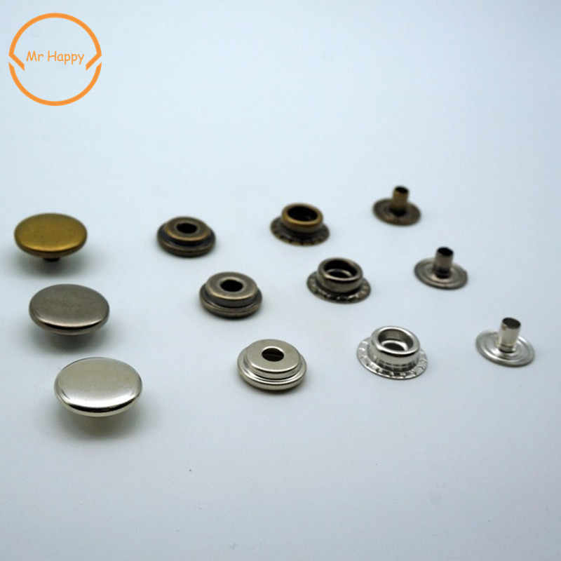 10pcs/lot Brass Snap Fastener Press Stud Rivet Sewing Leather Button Craft  For Clothes Garment DIY Decoration Accessories