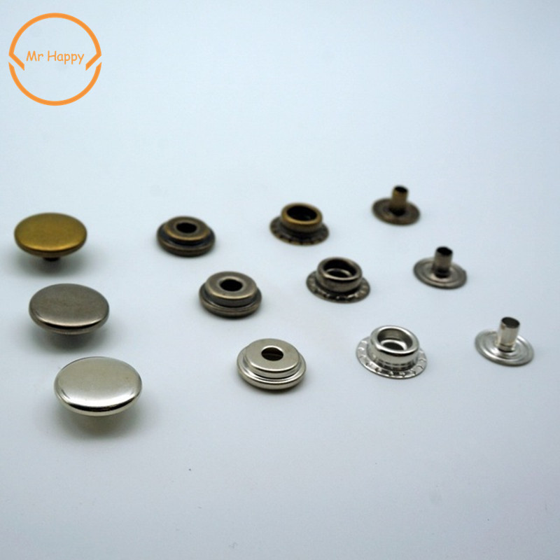 160Sets 12mm Metal Snap Fasteners Snaps Button Mix Hand Press Studs Fixing Tool