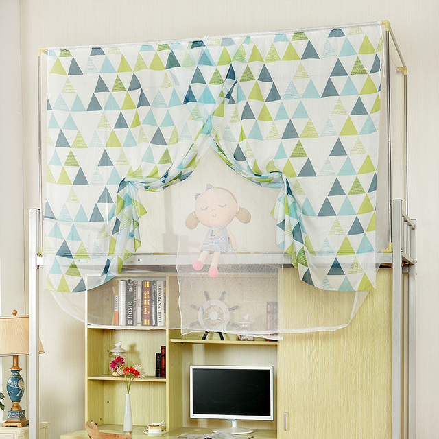 The Student Dormitory Bed Curtain Nets Encryption Top Bunk Beds