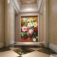 Custom DIY Fabric Textile Wallcoverings For Walls Fine Cotton And Linen Oil Painting For Living Room