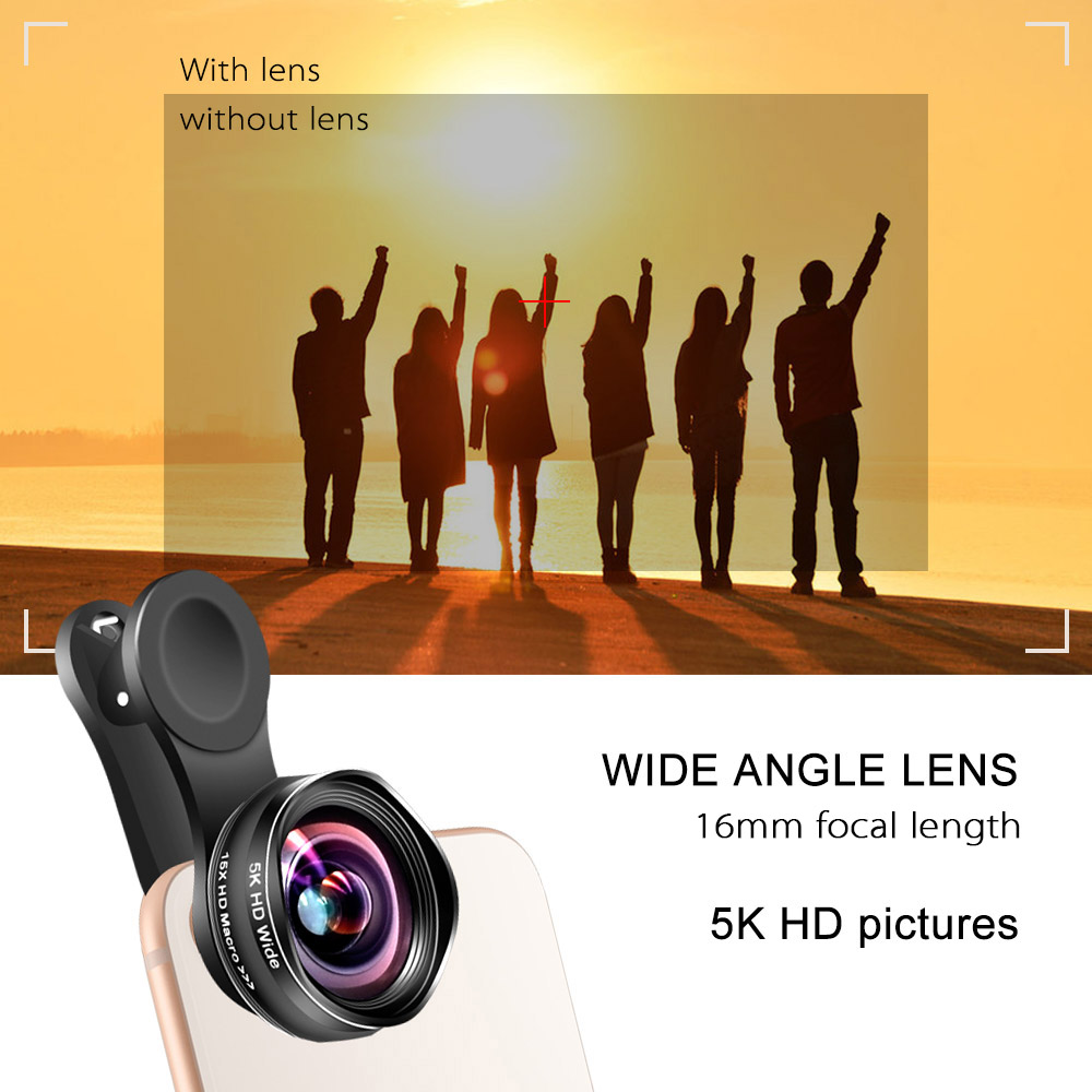Image 4 - Flower Bud 5K HD Phone Lens Wide Angle Macro Lens No Distortion 0.45X Professional 2 in 1 Camera for Smartphone iPhone Mobile-in Mobile Phone Lens from Cellphones & Telecommunications