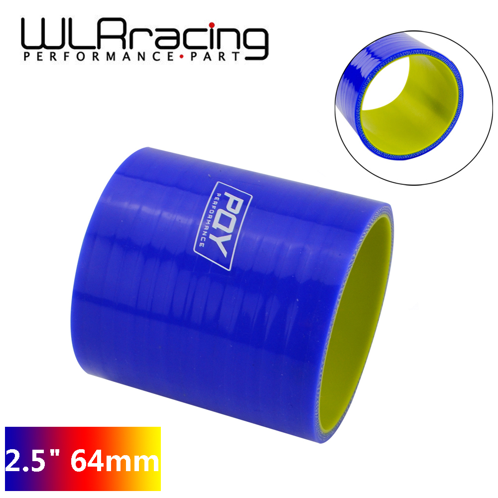 """2.5/"""" to 2.5 inch Silicone Straight Hump Coupler Hose Silicon Turbo Blue 64mm"""