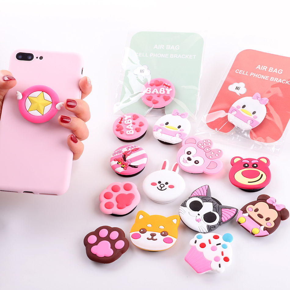Cute Cartoon Mobile Phone Grip Bracket Phone Expanding Stand Phone Finger Ring Holder For Phones For IPhone X XS 7 Xiaomi Redmi
