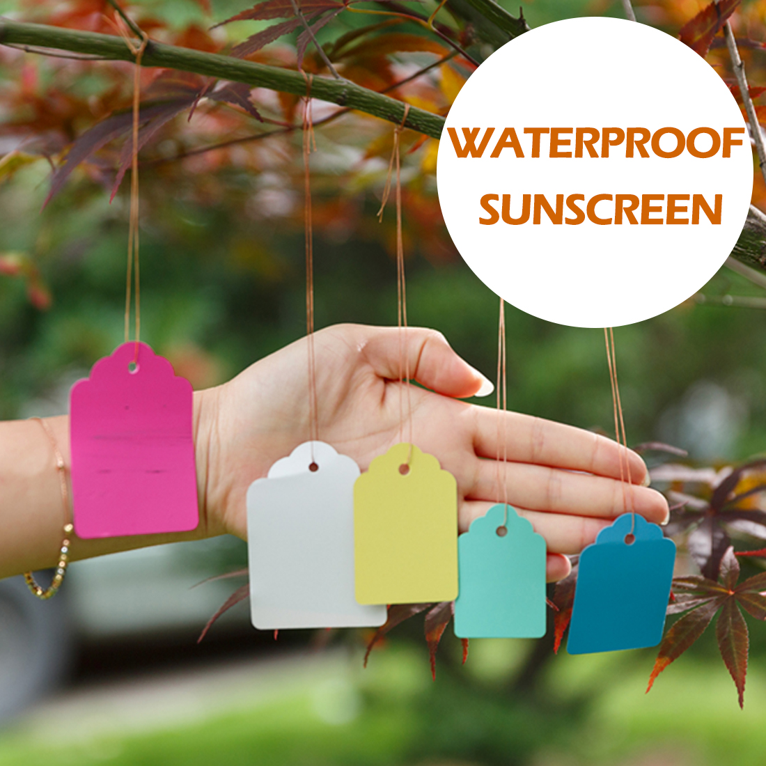 Colorful 100Pcs Plants Hang Tag Labels Seedling Garden Flower Pot Plastic Tags Number Plate Hanging Reusable Garden Tools