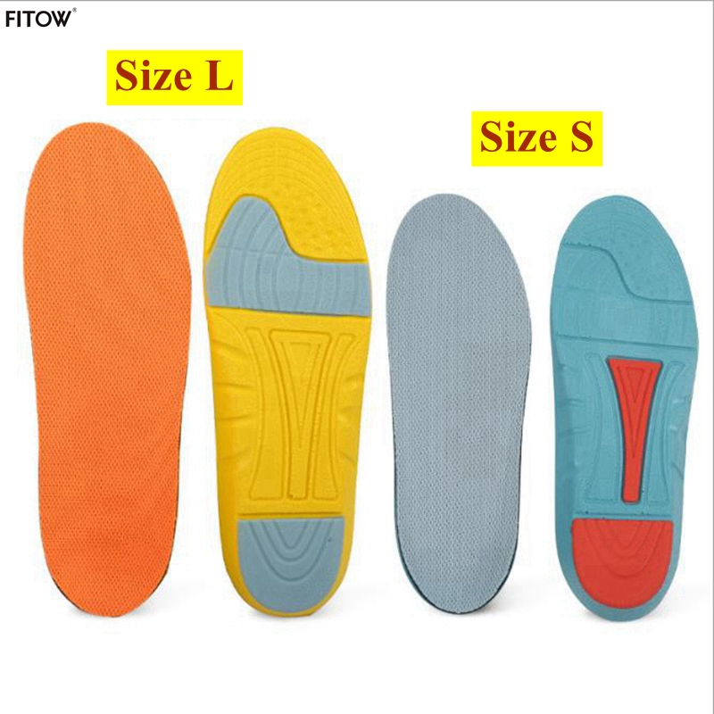 2017 Newest Unisex Soft Sports shoe Insoles 2 Color and 2 Size Sponge Running Insoles for Women/Men with Plus Size 35-45 2017 plus size gel insoles soft