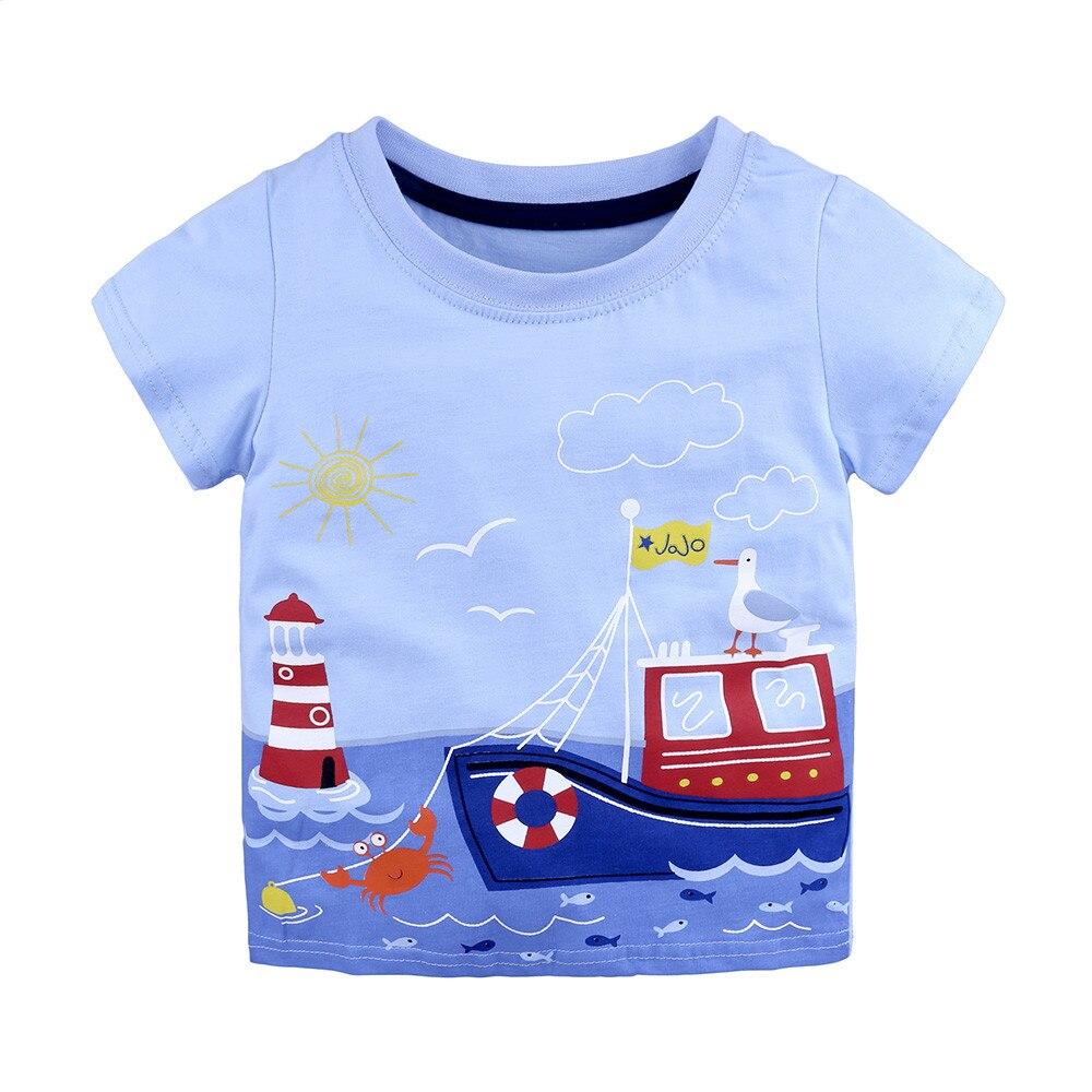 TELOTUNY baby boy summer short T shirt soft cotton T shirts for boys baby clothes kids t shirt 18M 6T Cartoon Striped Z0829|T-Shirts|   - AliExpress