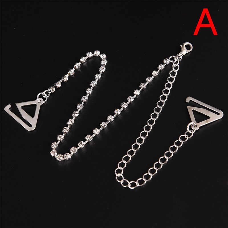 f1387840d6f66 ... 2Pcs pair Bra Straps 2 Rows Crystal Gorgeous Prom Diamante Rhinestone  Bra Straps Belt Adjustable