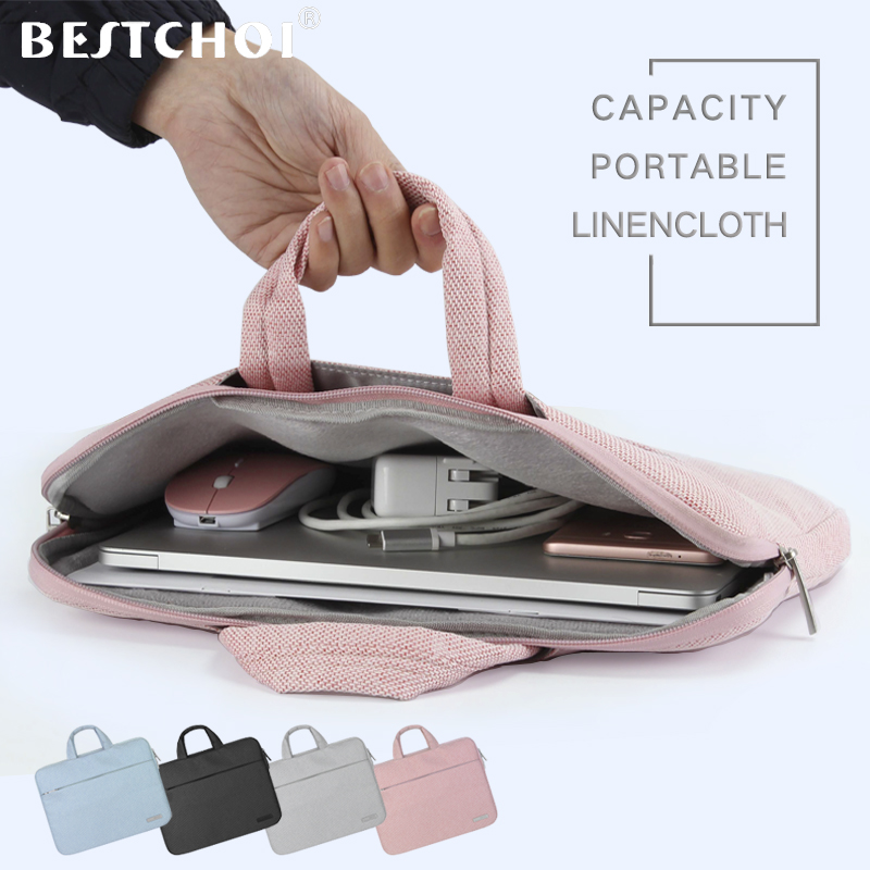 """Laptop Bag for Macbook air 11 13 Pro 15 case laptop Sleeve for Huawei Matebook X Pro Xiaomi Lenovo 13.3"""" PC cover Tote Bag 15.6