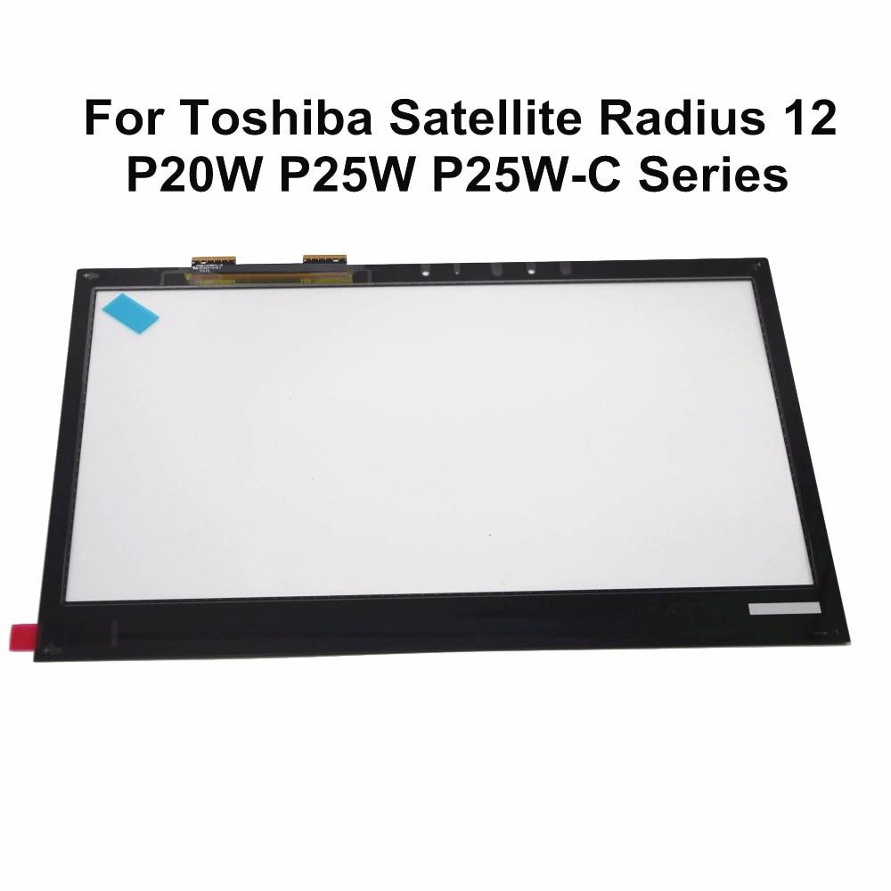 For Toshiba Satellite Radius 12 P20W P25W P25W-C2300 P25W-C2302 P25W-C2304 P20W-C10K  P20w-C-10D Touch Screen Digitizer GlassFor Toshiba Satellite Radius 12 P20W P25W P25W-C2300 P25W-C2302 P25W-C2304 P20W-C10K  P20w-C-10D Touch Screen Digitizer Glass