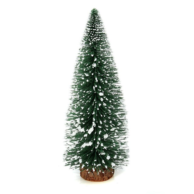 1pcs mini christmas tree small pine tree ornaments figurines miniatures christmas decorations home office diy decoration crafts