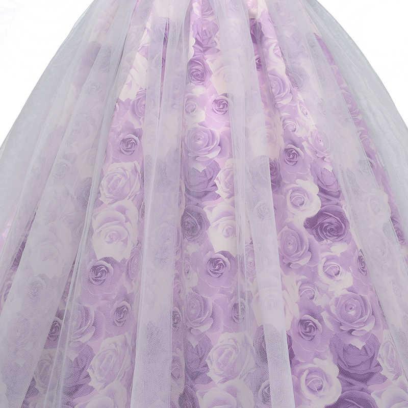 Фиолетовые Длинные Вечерние Платья с цветочным рисунком для девочек; платья для выпускного вечера для девочек; детское платье принцессы на свадьбу для подростков; платье для первого причастия