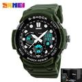 SKMEI Brand S Shock Men Sport Watches Dual Display Analog Quartz LED Electronic Digital Watch Outdoor Waterproof Military Watch