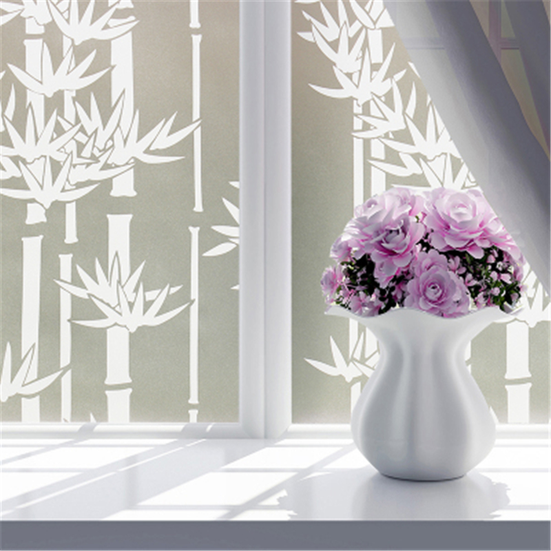 60X100cm Self adhesive stickers washroom Bathroom glass film window paper balcony sliding door translucidus transparent opaque in Decorative Films from Home Garden