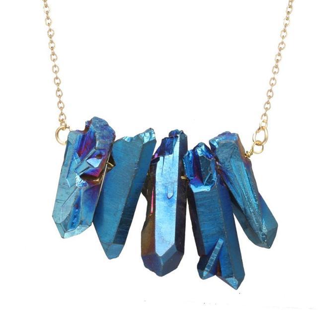 brixini.com - Natural Healing Quartz Rock Pendant Necklace